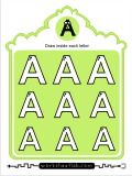 Print practice activites for the capital letter A