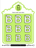 Printing practice activities for the capital letter B