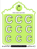 Printing practice activities for the capital letter C