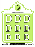 Printing practice activities for the capital letter D