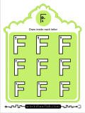 Printing practice activities for the capital letter F