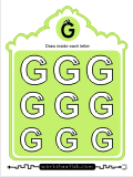 Printing practice activities for the capital letter G
