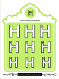 Printing practice activities for the capital letter H