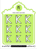 Printing practice activities for the capital letter K