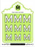 Printing practice activities for the capital letter M