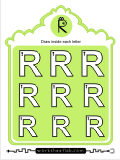 Printing practice activities for the capital letter R
