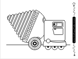 Truck coloring activity