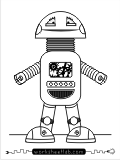 Robot character pre-writing activity