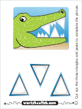 A small triangles shape cut and paste activity