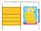 A rectangular strips cut and paste activity