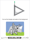 A cut and paste activity with a small triangle